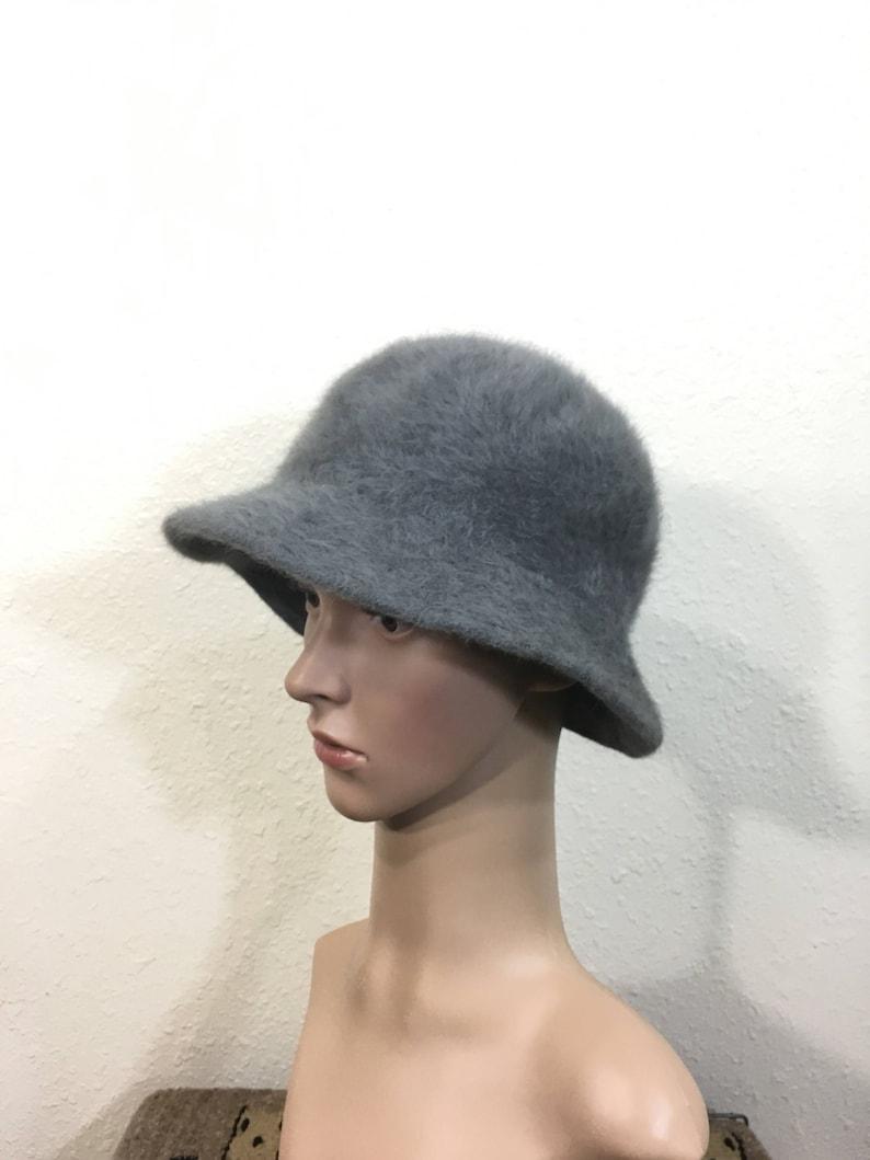 ded586ede 70's euro vintage fur bucket hat gray color hip hop made in france size 7  1/8