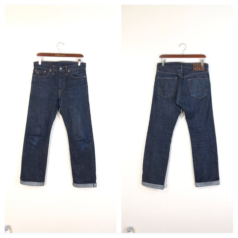 Rrl Polo Ralph Lauren Selvedge Denim Pants Jeans Red Line Etsy