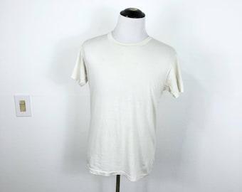 70's vintage distressed munsingwear 50/50 blend blank t-shirt size 44