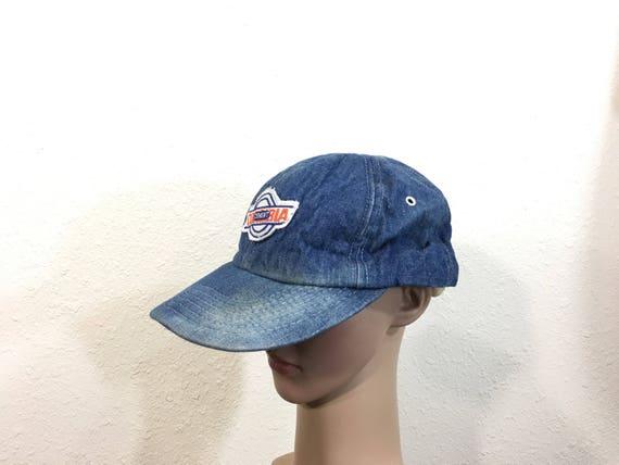 80 s vintage denim baseball cap snapback made in usa  d0826cce6e4