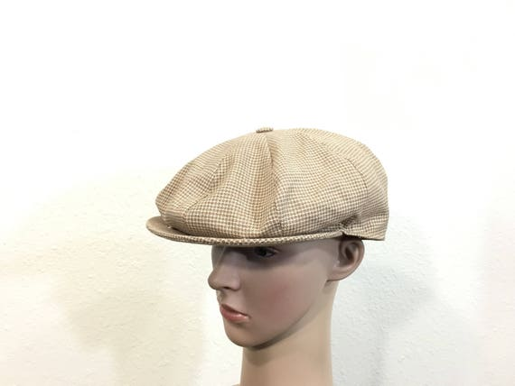 14b909e4026 70 s vintage kangol newsboy cap made in england size 7 1 4