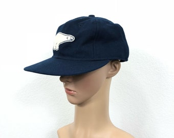 ebbets field wool baseball cap made in usa size 7 3/8