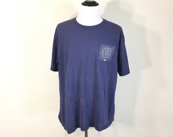 90's vintage distressed mossimo brand all cotton t-shirt made in usa size XL