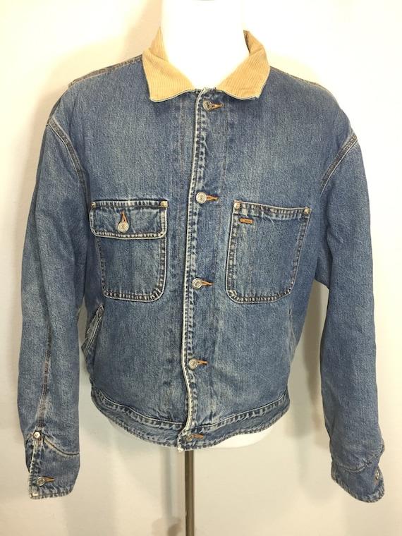 b62f70b0a9d15 90   s polo ralph lauren flanelle doublé Jean veste jean   Etsy