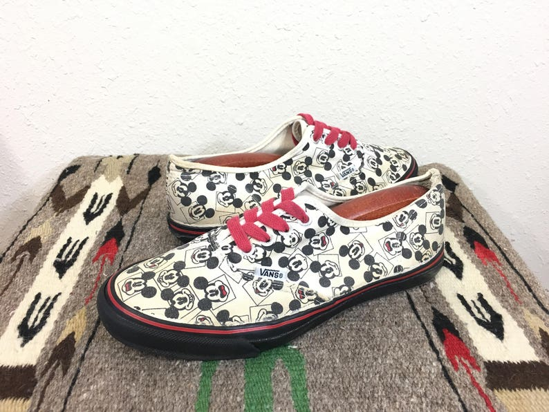 3df51048cb 90 s vintage vans mickey mouse all over print tie sneaker