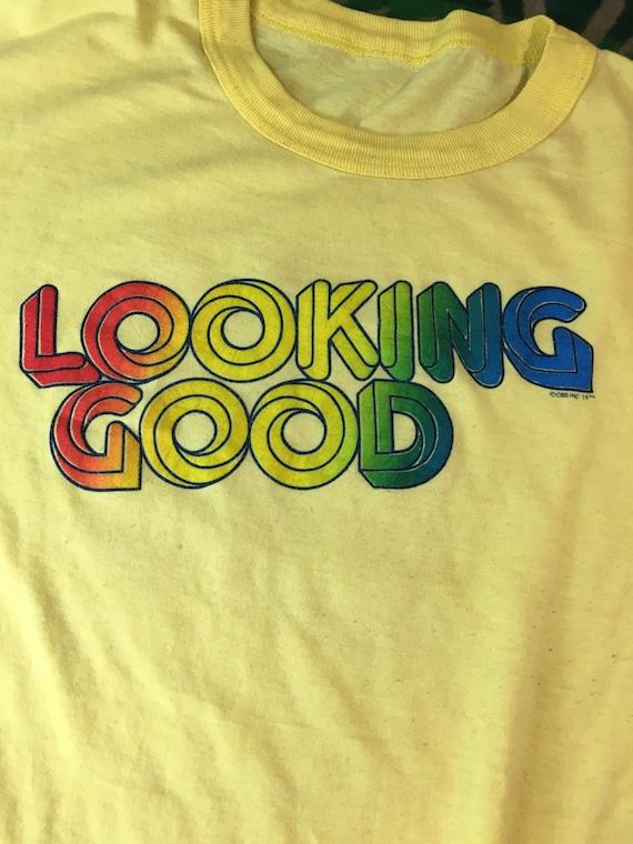 1970's vintage 5050 blend t shirt yellow color