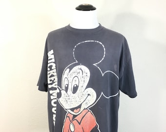 80's vintage distressed mickey mouse 100% cotton t-shirt made in usa
