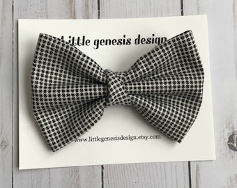 Houndstooth fabric bow| baby headband| toddler bow
