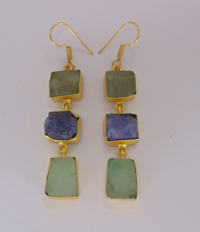 Dangling Earrings Gold Plated Brass Modern Jewelry Colorful Earrings Fashion Jewelry Handmade Earrings Anniversary Gifts Boho Earring