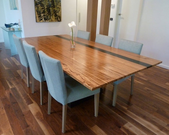 8 Seater Zebrano Dining Table Etsy