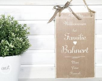 Door sign personalized
