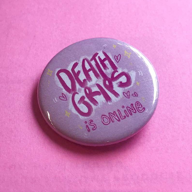 Death Grips Is Online  KAWAII DEATH GRIPS  Pin/Badge image 0