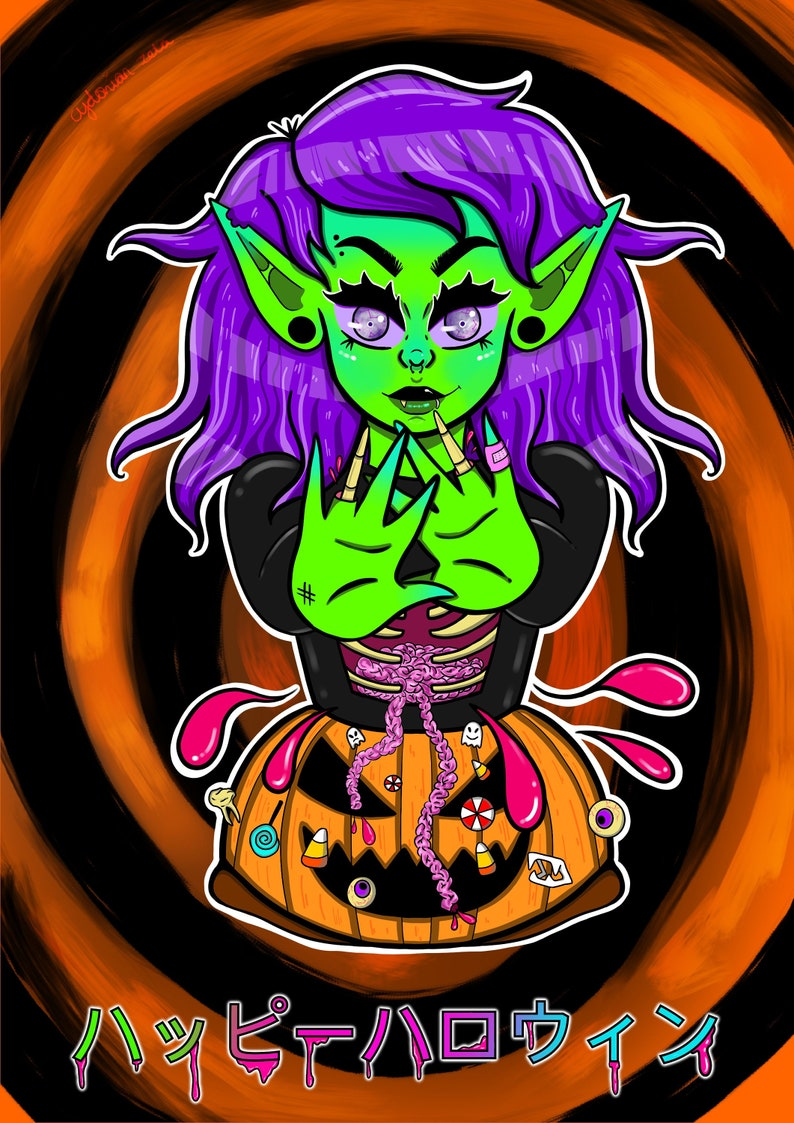 Happy Halloween Cydonian Zeta Candy Gore Print Etsy ✓ free for commercial use ✓ high quality images. etsy