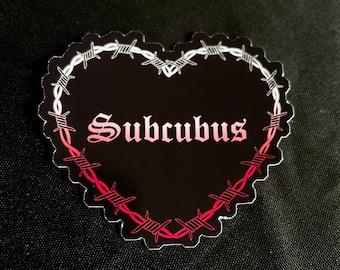 Subcubus Sticker - Submissive Succubus - 18+ Goth Edgy Demon