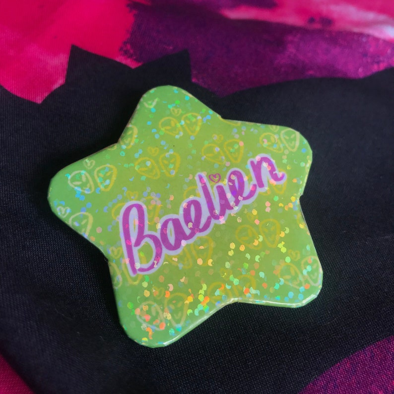 Baelien  2.3 inch Holographic Star Badge image 0