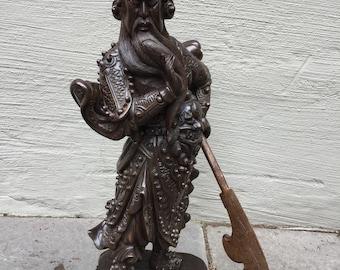 Antique Asian Carved Wood Pedestal