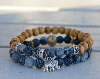 Perfect gift,elephant bracelet,good luck,lucky jewelry, wooden bracelet.