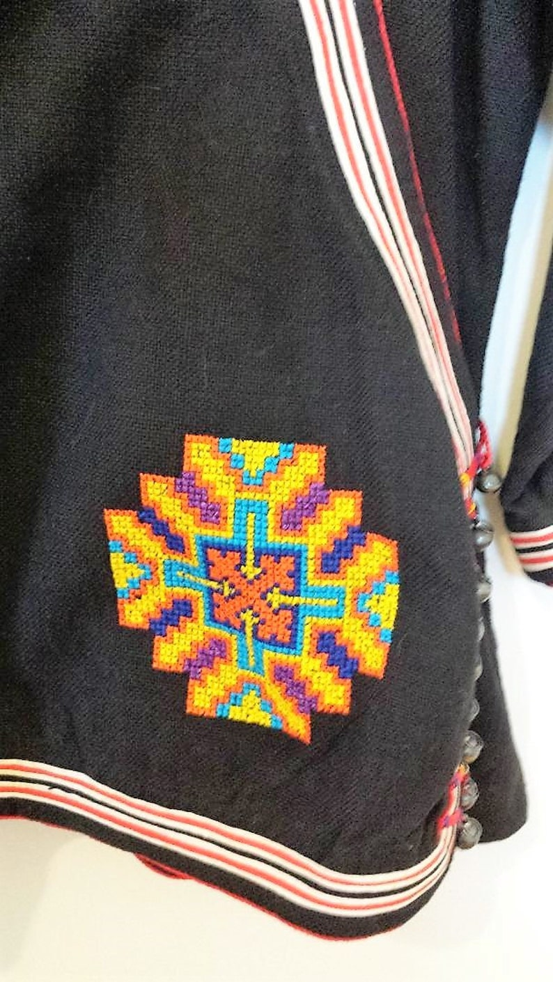 Small Never Worn New Cotton Thai Hill Tribe Jacket Embroidered