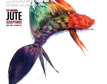 Jute Betta Fish - Color Blended - Symbol of independence, defiant spirit, warrior energy, deep knowledge