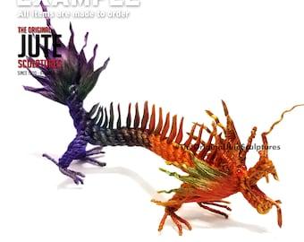 Jute Dragon - medium - Color Blended - symbol of power, strength & good luck