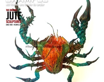 Jute Undersea Crab - Large - Color Blended - prosperity, success, high status, cycles, trust, emotions