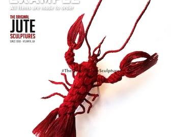 Jute lobster - large - Color Blended