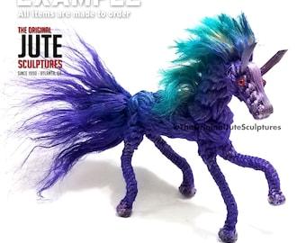 Jute Horse - Large - Color Blended - Symbol of love, loyalty, faithfulness, mobility, devotion & nobleness