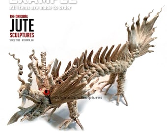 Jute Dragon - Small - Symbol of power, strength & good luck