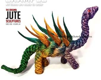 Jute Dinosaur (Spikey)