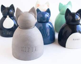 Custom Cat Urn - cremation, pet urn, small pet urn, urn for cat, painted urn
