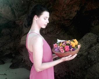 Fresh Flowers Urn (DIY) - biodegradable urn - water urn, natural burial, ocean burial, burial at sea