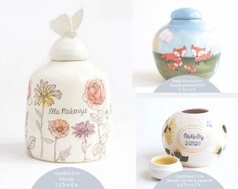 Custom Baby Urn - Statement - urn for infant, urn for baby, baby urn, custom baby urn, ceramic urn for baby, large baby urn