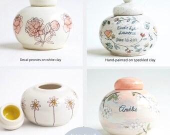 Custom Baby Urn - round - urn for infant, urn for baby, baby urn, custom baby urn, ceramic urn for baby
