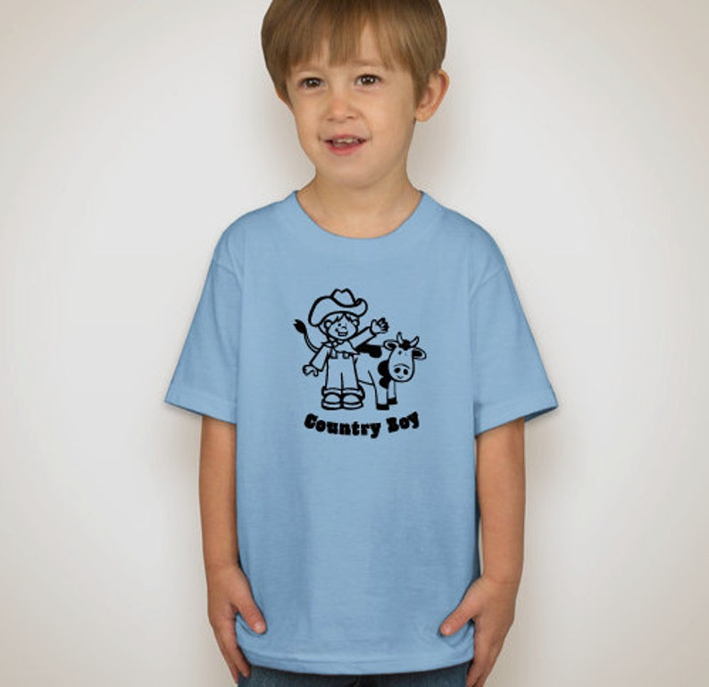 Toddler Country Boy Short Sleeve T-Shirt image 0