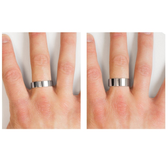 Double Line Style Ohio State Buckeyes College Rings Stainless Steel 8MM Wide Ring Band