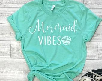 01914bf0f mermaid vibes shirt, mermaid shirt, mermaid tee, mermaid tank, mermaid  vibes tee, mermaid lover shirt, gift for teen, gift for tween, gift
