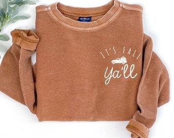 fall shirt, it's fall yall, pumpkin spice shirt, cute fall shirt, pumpkin shirt, womens fall shirt, fall sweatshirt, womens fall sweatshirt