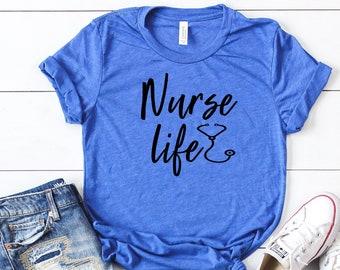 d83e9faef3671 Gift for nurse, Nurse graduation gift, Nurse life tee, Cute nurse t-shirt,  gift for nurse graduate, nurse shirt, nurse appreciation, Rn tee