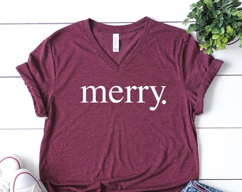 merry shirt womens holiday tee christmas party shirtwomens christmas shirtcute christmas topcute holiday t shirtwomens xmas shirt