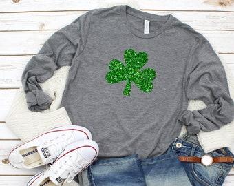 35d5794f2 Womens irish shirt - glitter shamrock tee - irish af tee - St. Patricks day  shirt - womens st. patricks day shirt - irish womens shirt