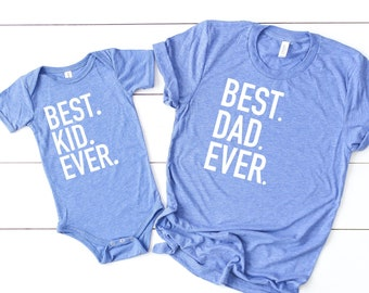 febae5438 Best dad ever, best kid ever, fathers day gift, number one dad, first  fathers day, gift for husband, gift from wife, matching son and dad
