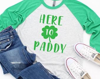 18025bc3a St Patty's Day Baseball Tee- Shamrock shirt - St. Patrick's Day Shirt -  Shamrock Tee - St Patricks Day Outfit - Holiday Shirt - Irish tee -