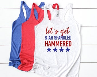 7f8b7e93ed Lets get star spangled hammered tank - womens 4th of july shirt - 4th of july  shirt women - funny 4th of july shirt - 4th of july tank