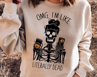 womens halloween shirt fall shirt pumpkin spice shirt skeleton halloween shirt fall shirt funny halloween shirt halloween shirt women