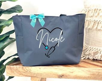 Nurse Graduate Gift Nurse Gift Nurse Canvas Tote Bag Registered Nurse Bag RN Gift Nurse Bag Nursing School Graduation Gift