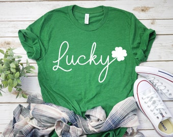 4106529bd01 Lucky tee - Cute St Patty s day shirt - lucky charm shirt - Saint Patricks  Day Outfit - Women s St. Patricks Day top- Irish Women s T-Shirt