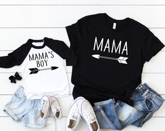82b2f90e54 Mommy and me matching set, mother and son matching, mama, mama's boy, mommy  and me tees, cute mom shirts, gift for mom, gift ideas for mom