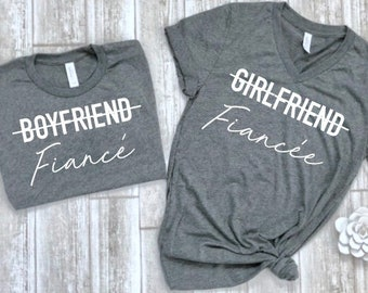 328c517c matching fiance shirts - matching couple shirts - fiance t-shirt set -  couples shirts -soon to be bride shirt - engagement gift idea