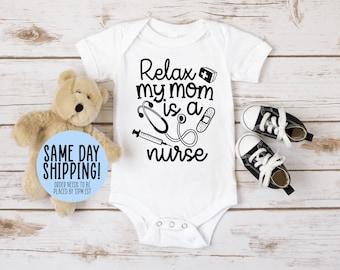 Baby Girl Future Nurse Baby Clothes Baby Shower Gift Baby Boy Bodysuit Baby Nurse #43 Funny Baby Clothes