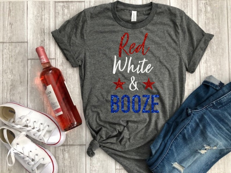 ff88002f Red white and booze fourth of july shirt 4th of july tee   Etsy
